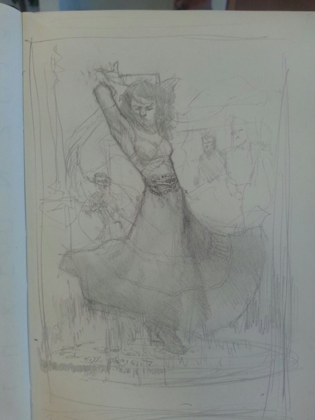 Sketch of Allure of the Gypsies Cover
