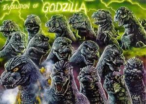 Evolution of Godzilla