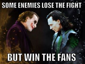 Joker from DC and Loki from Marvel (Yahoo Image Search)