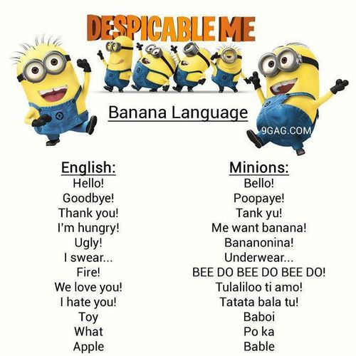 Despicable Me Minion Translator (Yahoo Image Search)