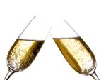 champagne flutes touching
