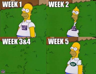 Homer Simpson (Also Giants and Jets)