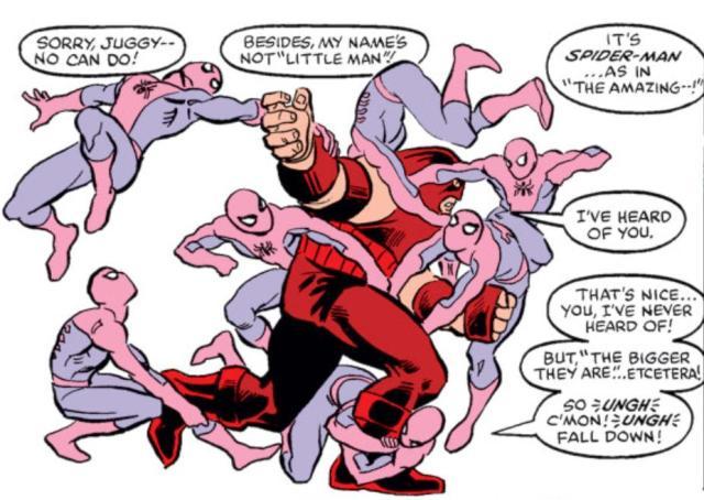 Spider-Man vs Juggernaut (Marvel Comics)