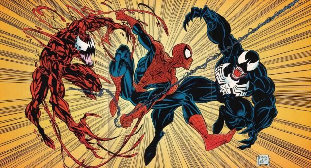 Spider-Man, Venom, and Carnage from Marvel Comics